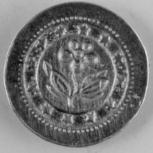 162 Forget me not Pewter Button 3/4in