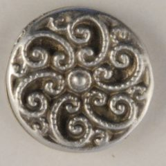 Swirled Fancy Pewter Buttons 1/2in, 163