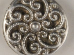 Swirled Fancy Pewter Buttons 1/2in, 163. Hand made in the USA
