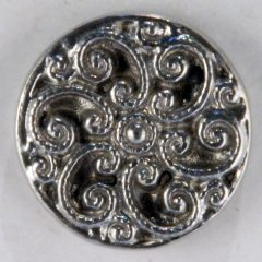 Swirls Pewter Button 11/16 inch, 164