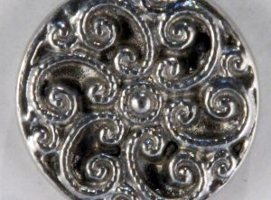 Swirls Pewter Button 11/16 inch, 164. Hand made in the USA