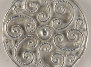 Swirled Pewter Buttons 7/8in, 165. Hand made in the USA