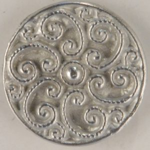 165 L Swirled Pewter Buttons 7/8in