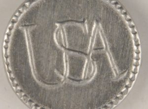 USA Continental Army Pewter Button, 13/16″, 167. Hand made in the USA