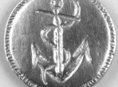 Anchor Pewter Button, 168. Hand made in the USA