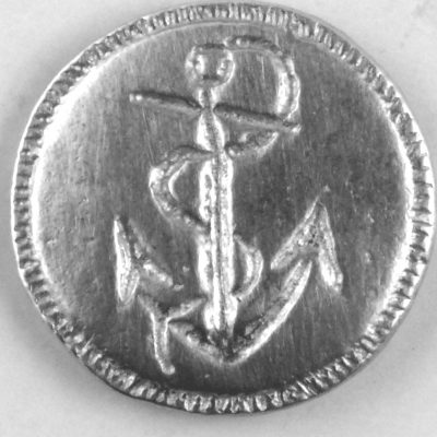 168 L, Anchor Pewter Button