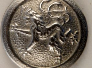 Rampant Lion Pewter Button, 169. Hand made in the USA