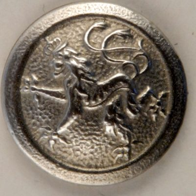 Rampant Lion Pewter Button, 169