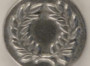 Laurel Wreath, Pewter Button, 5/8″, 174. Hand made in the USA