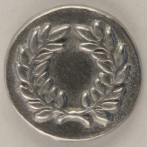 Laurel Wreath, Pewter Button, 5/8″, 174