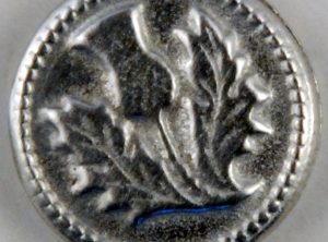 Thistle, Small Pewter Button, 5/8″, 176. Hand made in the USA