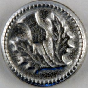 Thistle, Small Pewter Button, 5/8″, 176