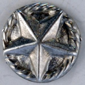 180 S, Texas Star Pewter Button