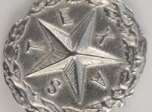 Texas Star Pewter Button, 1″, 181. Hand made in the USA