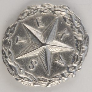 Texas Star Pewter Button, 1″, 181