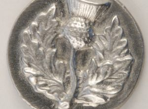 Thistle, Large Pewter Button, 1-1/8″, 182. Hand made in the USA