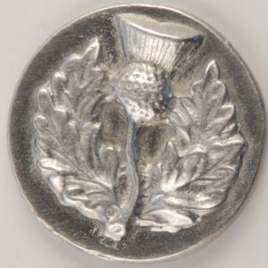182 L, Thistle, Large Pewter Button