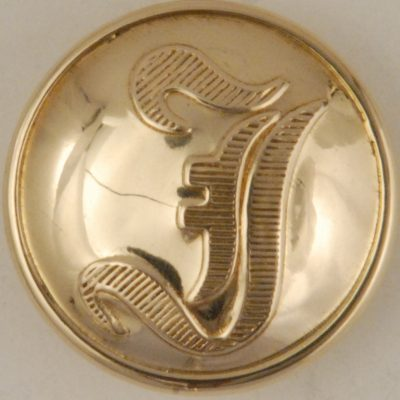"""""""I"""" Infantry Brass High Domed Button, 186"""