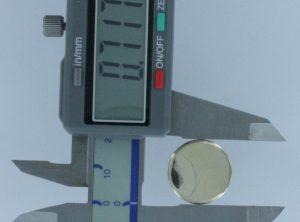 7/8 in Brass flat face Button, 130B