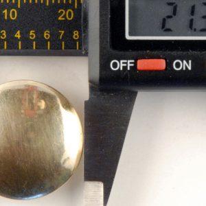 Brass High Domed Button, 212