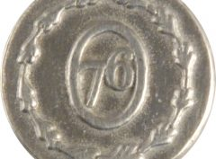 Military Pewter Button, 5/8″, 76. Hand made in the USA