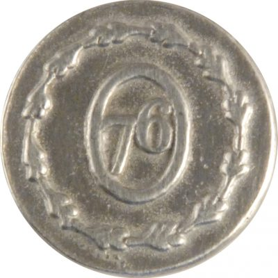 76 S, Military Pewter Button