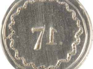 71 L, Military Pewter Button. Hand made in the USA