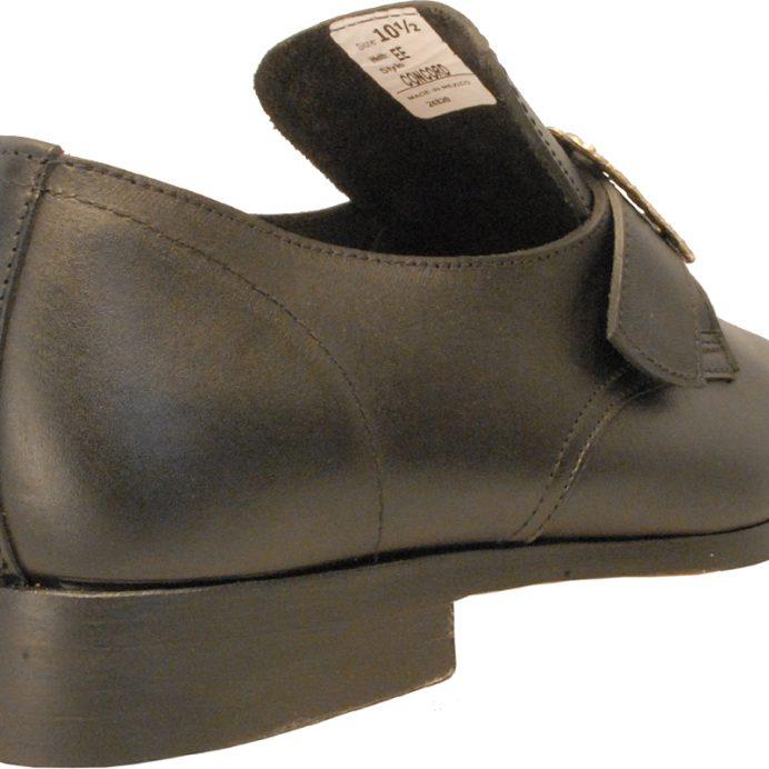 Black buckle shoe