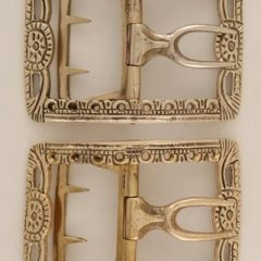 Pierced Shoe Buckle, Brass