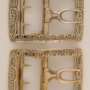 Pierced Shoe Buckle, Brass