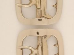 Colonial White Bronze Buckle, Military #1