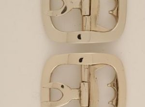 Ladies Plain Colonial Brass Shoe Buckle