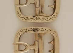 Vine and Leaf, Brass ladies shoe buckle