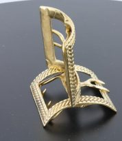 colonial Brass shoe buckle with rope trim