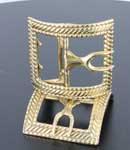 Rope Colonial Shoe buckle, White Bronze