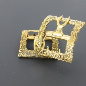 Shoe Buckles Brass Military