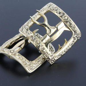 Tudor Colonial brass shoe buckle