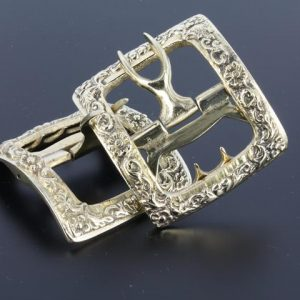 Tudor Colonial white bronze shoe buckle