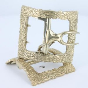 Swirl shoe buckle in White Bronz