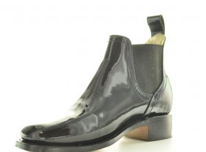Patent Leather Congress Gaitor, Civil War Men's pull-on Shoe