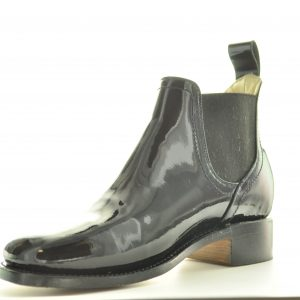 Patent Leather Congress Gator, Civil War Men's pull-on Shoe