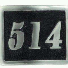 514 Belt buckle black background in solid Bronze