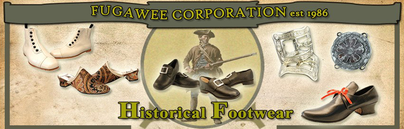 Historical Reproduction Shoes & Boots for Sale | Fugawee