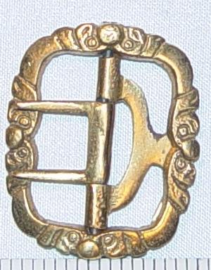 Fancy Colonial Knee buckle in Brass