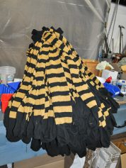 black and yellow over the knee stocking by Fugawee