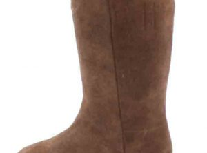 Fugawee's Short Brown Boot Roughout and Un-lined.